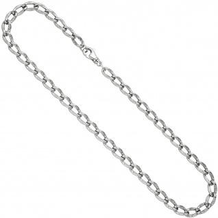 Lang-Panzerkette 925 Sterling Silber 7, 3 mm 45 cm Kette Halskette Silberkette