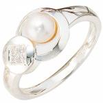 Damen Ring 925 Sterling Silber 1 SÃÃ wasser Perle 4