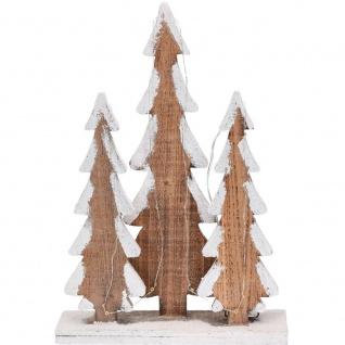 LED Weihnachtsbaum Deko Holz beleuchtet weiß 40 cm - Home Styling Collection
