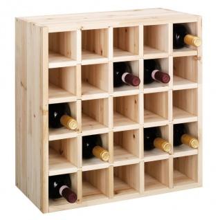ZELLER Weinregal, Naturholz für 25 Flaschen
