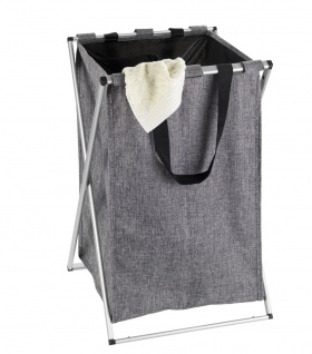 Wäschekorb mit Kordelzug, Tasche auf tragbarem Rahmen - 52 l, 57 x 35 x 38 cm, WENKO