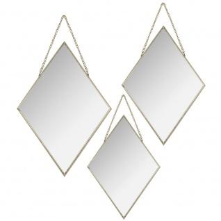 Wandspiegel Diamant 3er Set, Wandspiegeln, hängenden Spiegeln, Spiegel im Rahmen