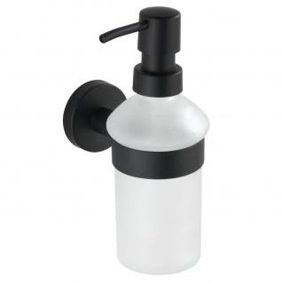 Seifenspender zum Einhängen BOSIO, schwarz, WENKO