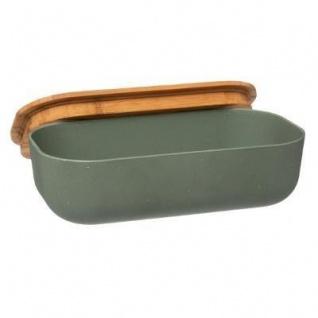 Lunch-Box mit Deckel aus Bambus, 20 x 11, 5 x 6 cm, grün - Vorschau 2
