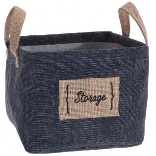 Textilkorb mit Griffen, leicht tragbare Materialbox, Behälter zum Aufbewahren von Gegenständen.