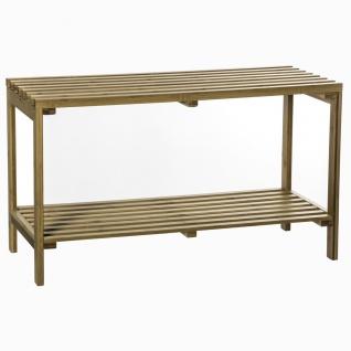 Regal mit Aufbewahrungsbeutel auf 2 Etagen, Bambusregal, Badezimmermöbel