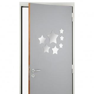 Set von 7 selbstklebenden sternförmigen stilvollen dekorativen Spiegel für Badezimmer Schlafzimmer