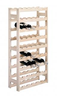 Zeller Weinregal Regal Weinschrank Weinständer Flaschenregal für 54 Flaschen