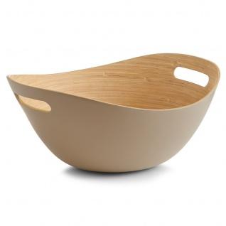 Schale für Obst, Salate, Snacks - 100% Bambus, Taupe Farbe, ZELLER