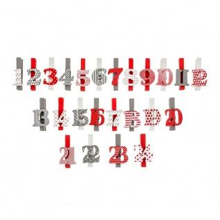 Weihnachtsclips mit Zahlen, Weihnachten, 24 Stück - Fééric Lights and Christmas