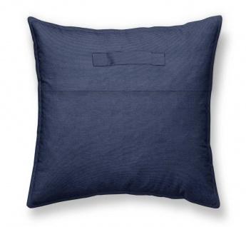 Deko-Kissen ESCALE, Baumwolle, 50 x 50 cm, dunkelblau