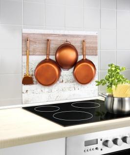 WENKO Glasschutzplatte KUPFER für den Ofen, Kupferpfannen Spritzschutz - 60x50cm
