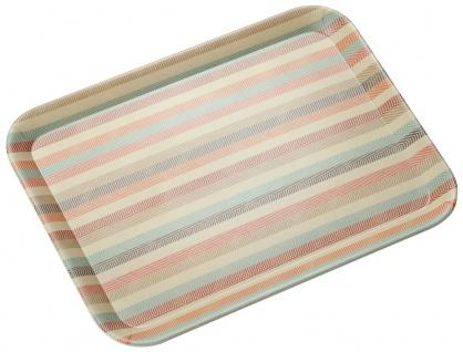 Dekoratives Bambusfaser-Tablett mit modischen Streifen, Frühstückstablett
