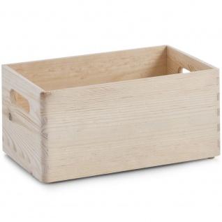 Multifunktionsbehälter, Holzorganizer, ZELLER mit 4 Fächern