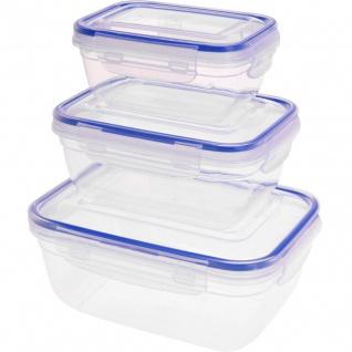 Lebensmittelaufbewahrungsbehälter, 3 Stück, Kunststoff