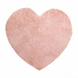 Dekokissen mit Herzmotiv, 80 x 74 cm, rosa - Atmosphera