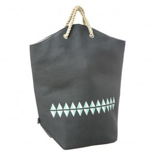 Waschbare Tasche, geräumiger Korb BALTIK Pfefferminz, gefaltet