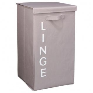 Wäschekorb LINGE, 80L, taupe - 5five Simple Smart