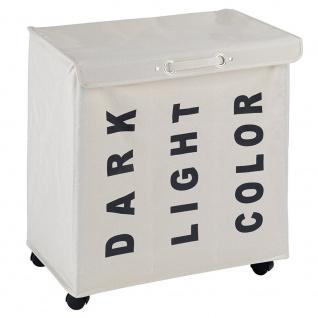 Wäschesammler Waschbehälter TRIVO BEIGE - bis 116 Liter, WENKO