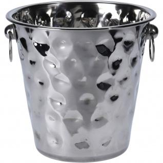 Sektkühler aus Metall, Ø 21 cm, silbern
