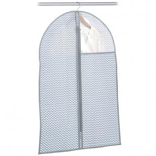 Zeller Kleiderhülle mit Fenster, Vlies, weiß/grau, ca. 60 x 90 x 1 cm