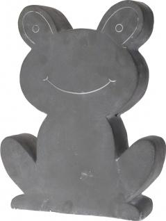Gartendekoration Frosch, Zement - 32 x 40 cm