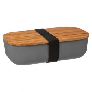 Lunch-Box mit Deckel aus Bambus, 20 x 11, 5 x 6 cm, grün - Vorschau 5