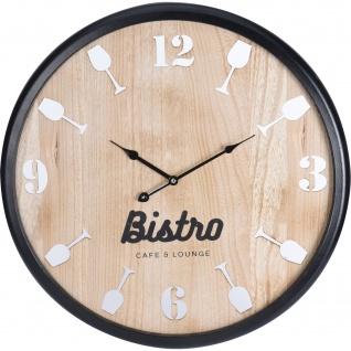 Wanduhr BISTRO, 60 cm, Holz