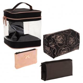 Reisetasche, quadratisch, für Damen, 4 Stück, silber - 5five Simple Smart