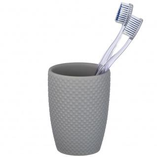 Zahnbürstenbehälter, Badezimmerbecher mit dekorativer Textur - WENKO