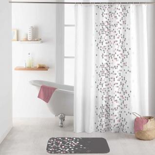Duschvorhang EFFERVESCENCE, 180 x 200 cm, weiß mit Punkten