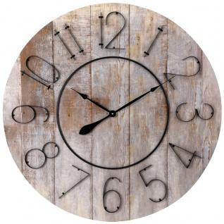 Wanduhr aus Holz, Durchmesser 88 cm - Segnale