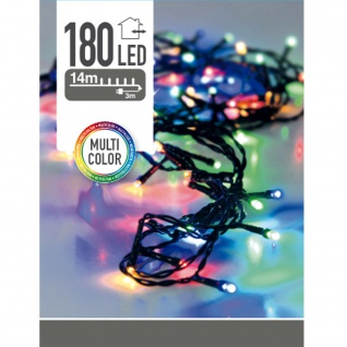 Weihnachtsbaum Lichter 180 LED, Outdoor, 14 m, mehrfarbig, mehrfarbig - Home Styling Collection