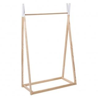 TIPI Kleiderständer, Kleiderbügel aus Holz für Kinder - 78 x 38 x 126