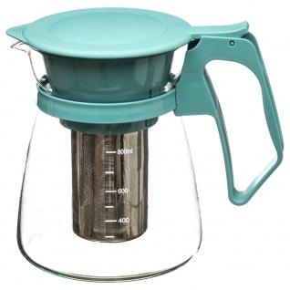 Krug mit Tee und Kräutern, Glas-Teekanne mit Griff und Klappe - SECRET de GOURMET