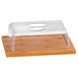 Käseglocke, Käsebrett mit Deckel, Bambusbehälter für Käse, Lebensmittelbehälter
