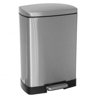 Badezimmerkorb mit Fußpedal, Metall 12 l