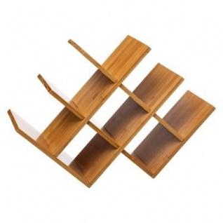 Flaschenregal, 8 Fächer, Bambus, 46 cm, Natur