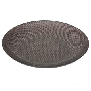 Hibba Glasplatte, Durchmesser 39 cm, schwarz - Secret de Gourmet