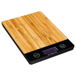 Secret de Gourmet, Elektronische Küchenwaage - Bambusholz