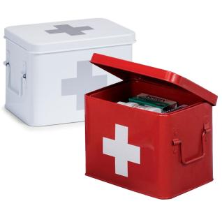 ZELLER Medizin-Box aus Metall in , Länge: 22 cm