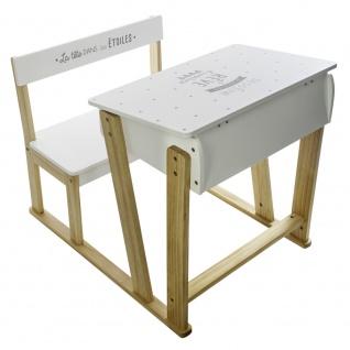 Schreibtisch mit Bank für Kinderzimmer, Hochstuhl und Tisch für ein Kind