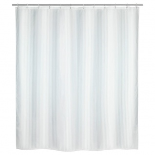 Polyester Duschvorhang Wasserdicht PALAIS + 12 Befestigungsringe 200 x 180 cm WENKO