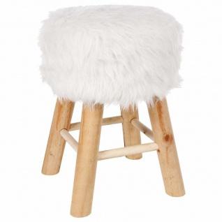 Sitzhocker mit kleiner Polsterung a la Fell, Universalsitz in weißer Farbe.