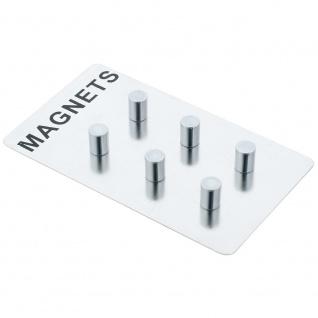 ZELLER Magnete für Notizen, Edelstahl, 6 Stück - Vorschau 1