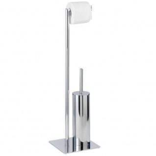 Toilettenpapierhalter und Bürste RECCO für Toilette - 2 in 1, WENKO