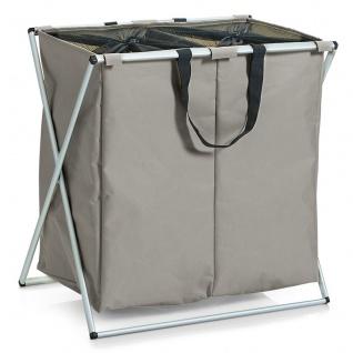 ZELLER Wäschesammler, 2-fach, 128 Liter