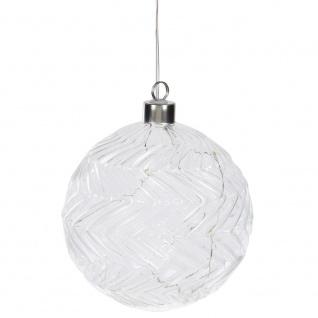 Weihnachtskugel LED Weihnachtsbaumkugel Glas Kugeln für Weihnachtsbaum, 12 cm - Home Styling Collection