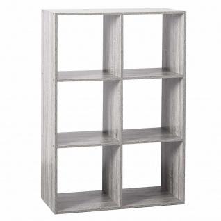 Dekoregal, rechteckig, weiß, 6 Fächer, 68 x 100, 5 cm