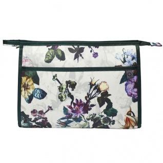 Große Kosmetiktasche mit Blumendruck, Reisetasche für Kosmetik, Essenza